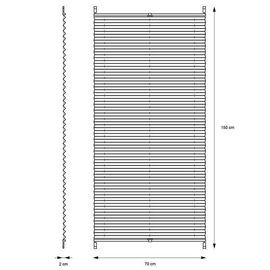 Plissee bordeaux, 70x150 cm, inkl. Befestigungsmaterial
