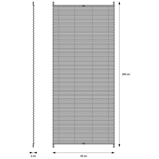 Plissee grau, 85x200 cm, inkl. Befestigungsmaterial