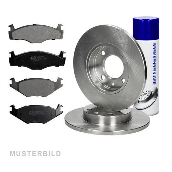 Bremsscheiben + Bremsbeläge hinten Mercedes