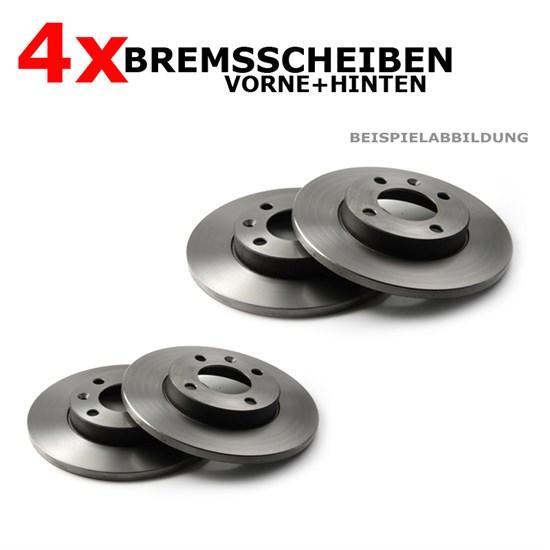 Bremsscheibensatz vorne + hinten VW