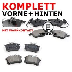 Bremsbelagsatz vorne + hinten SEAT VW WK