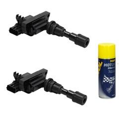 2 x Zündspule Mazda mit Motor Starter Spray 450ml