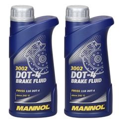 2 x Mannol Bremsflüssigkeit DOT-4 500 ml