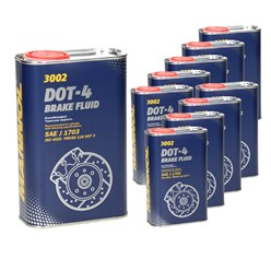 10xMannol Bremsflüssigkeit DOT-4 1 L