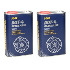 2xMannol Bremsflüssigkeit DOT-4 1 L