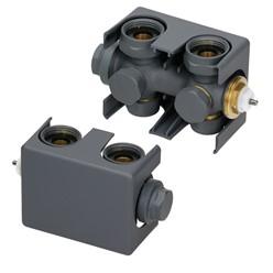 Badheizkörper Steam Design mit Mittelanschluss 500x1511 mm Anthrazit inkl. Anschlussgarnitur mit Thermostat Universal