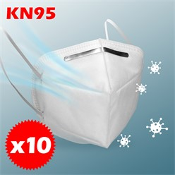 10 x Atemschutzmaske FFP2 KN95 4-lagige Weiß