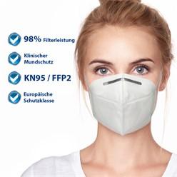 50000 x Atemschutzmaske FFP2 KN95 4-lagige Weiß