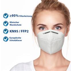 10000 x Atemschutzmaske FFP2 KN95 4-lagige Weiß