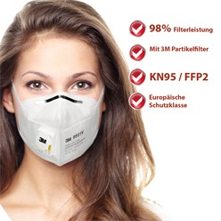 1 Stück Atemschutzmaske Feinstaubmaske 3M FFP2
