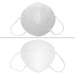 10 Stück Atemschutzmaske KN95 Weiß
