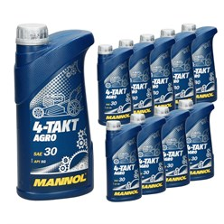 10 x MN7203-1/4-Takt Agro SAE 30 1 Liter