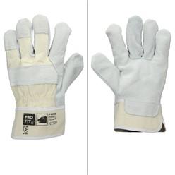 12x Rindspaltleder-Handschuhe natur Gr. 10 -XL