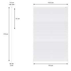 Aluminium Jalousie 110x175 cm, Silber, inkl. Montagematerial