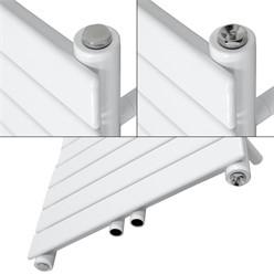 Badheizkörper Steam Design mit Mittelanschluss 500x1511 mm Weiß Einlagig