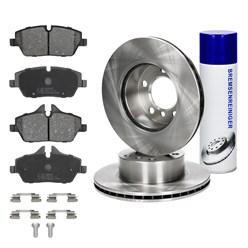 Bremsensatz 6-Teilig vorne mit Bremsenreiniger 450 ml BMW