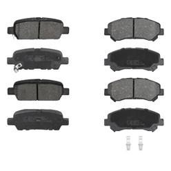 Bremsbelägsatz 8-Teilig vorne + hinten Nissan Suzuki