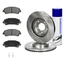 Bremsensatz 6-Teilig vorne mit Bremsenreiniger 450ml Nissan