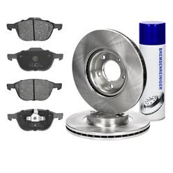 Bremsensatz 6-Teilig vorne mit Bremsenreiniger 450 ml Mazda