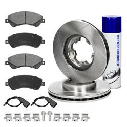 Bremsensatz 6-Teilig vorne mit Bremsenreiniger 450 ml Ford