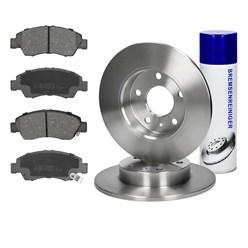 Bremsensatz Bremsscheiben Ø 264 mm und Bremsbeläge hinten Opel Astra H G Meriva