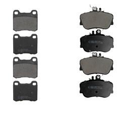 Bremsbelägsatz 8-Teilig vorne + hinten Mercedes