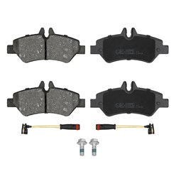Satz Bremsbeläge mit Warnkontakt vorne und hinten Mercedes Sprinter 3-T 3,5-T 90