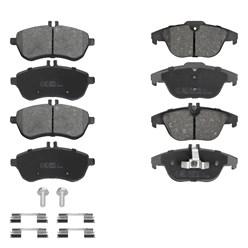 Bremsbeläge Bremsen und Reiniger Für Vorne mit Hinten Mercedes C-klasse W204 S204
