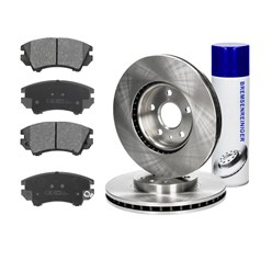 Bremsensatz vorne + BR, Opel Insignia, Saab 9-5, Bj. bis 2014