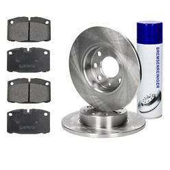 2 x Bremsscheiben 236 mm Bremsbeläge corne mit Montage Cleaner Opel Ascona Vectra