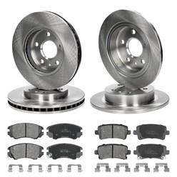 Bremsenkomplettsätze 4 Bremsscheiben und Bremsbeläge Bremsenteile Opel Saab