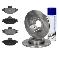 Bremsensatz 6-Teilig vorne mit Bremsenreiniger 450 ml Fiat