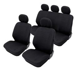 Sitzbezug Polyester schwarz Airbag