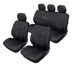 Sitzbezug Kunstleder Schwarz Airbag