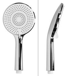 Duschsystem mit Thermostat, silber, aus Edelstahl