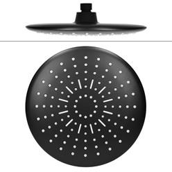 Duschsystem mit Thermostat, schwarz, aus Edelstahl