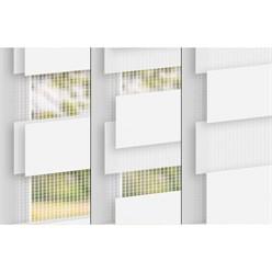 ECD Germany Store duo 100x150 cm Store double bande Store occultant et protection solaire sans perçage Klemmfix Installation facile avec materiel de montage Couleur Blanche