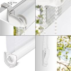Doppelrollo Grün-Grau-Weiß, 100x150 cm, inkl. Befestigungsmaterial