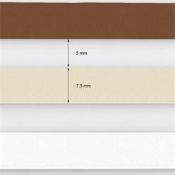 Doppelrollo Weiß Beige Braun, 90x230 cm, inkl. Befestigungsmaterial