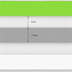 Doppelrollo 100x150 cm Grün Grau Weiß Klemmfix ohne Bohren mit Klemmträgern