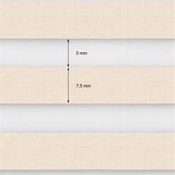 Doppelrollo 90x150 cm Natur Klemmfix ohne Bohren mit Klemmträgern