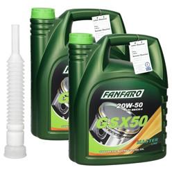 Fanfaro GSX50 20W-50 mit Auslaufschlauch 5 L 2 Stk