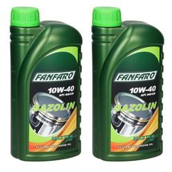 Fanfaro Gazolin 10W-40 1 Liter 2 Stücke