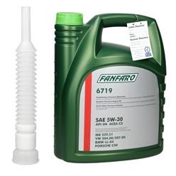 Fanfaro Motoröl 5 L mit Auslaufschlauch