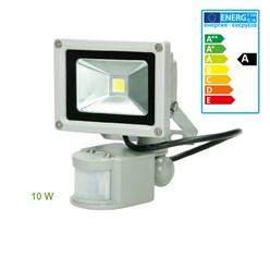 LED Flutlichtstrahler Warmweiß 10 Watt mit Bewegungsmelder