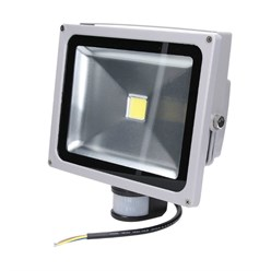 LED Flutlichtstrahler 30 Watt kaltweiß mit Bewegungsmelder