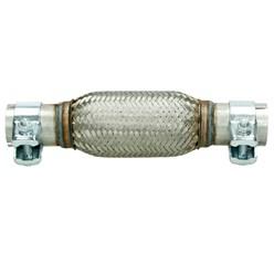 Flexrohr Edelstahl mit Schellen 150 mm Anschluss Ø 40,5 mm