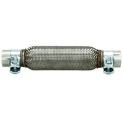 Flexrohr Edelstahl mit Schellen 230 mm Anschluss Ø 45,5 mm
