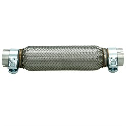 Flexrohr Edelstahl 55 x 280 mm mit Schellen