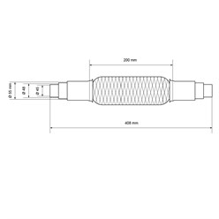 Flexrohr Edelstahl 45 / 48 / 55 mm